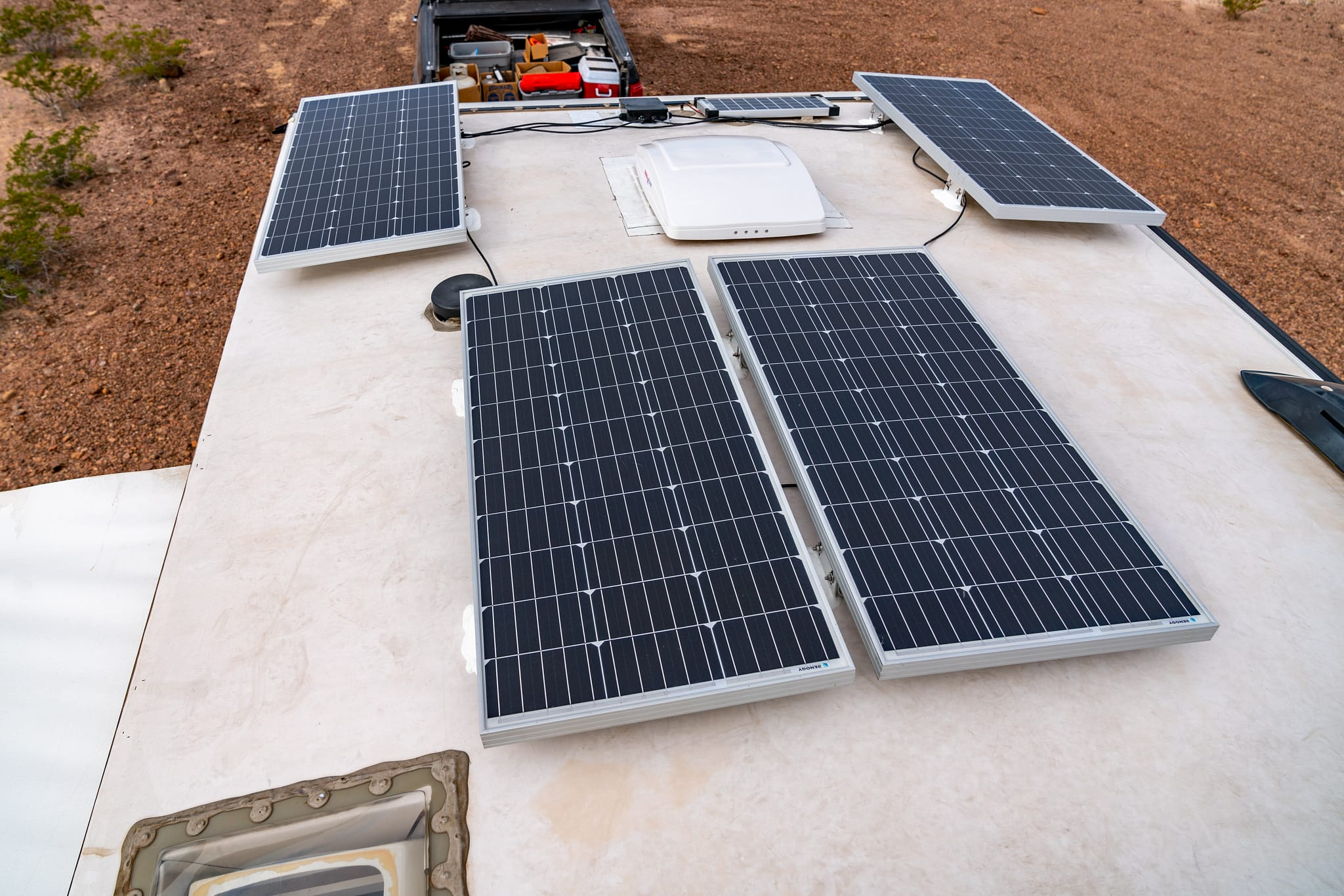 RV Rooftop Solar Panels