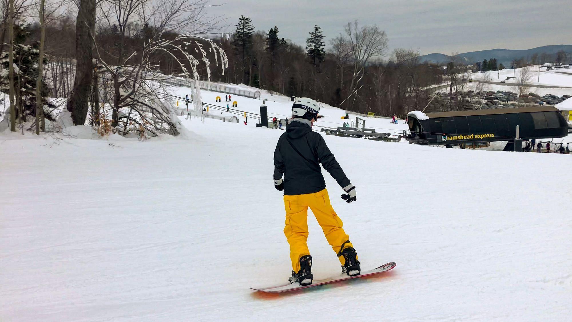 Snowboarding at Killington