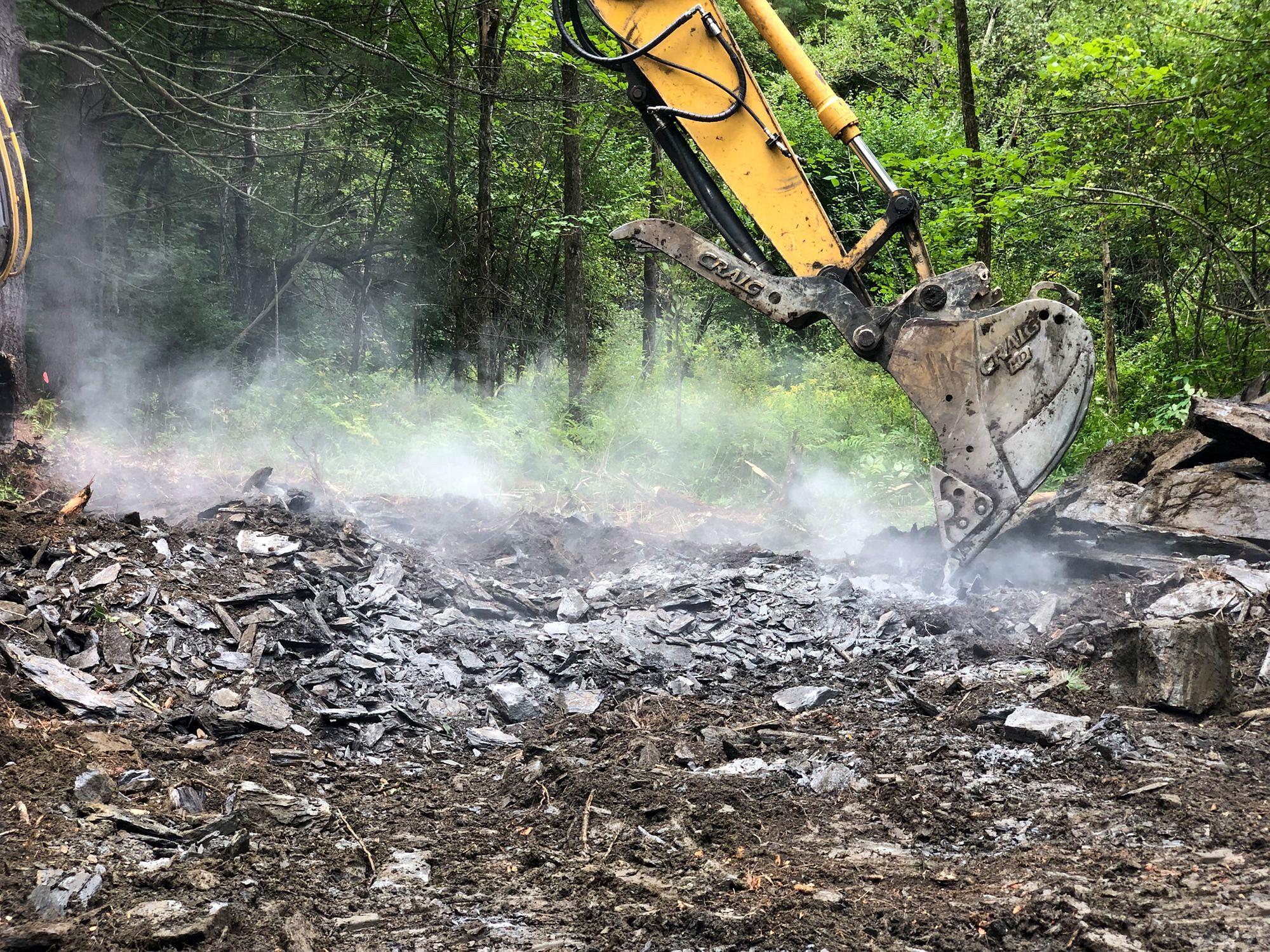 Excavating Bedrock