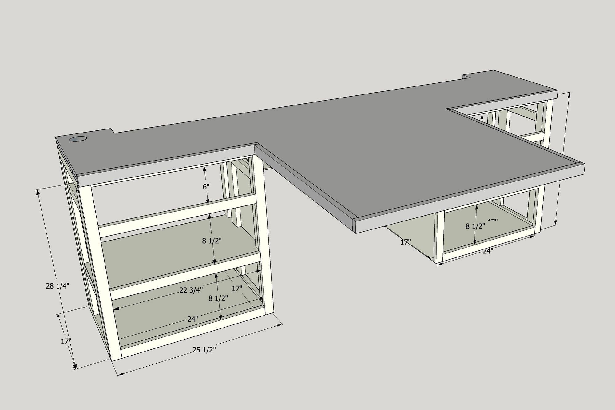SketchUp RV Desk
