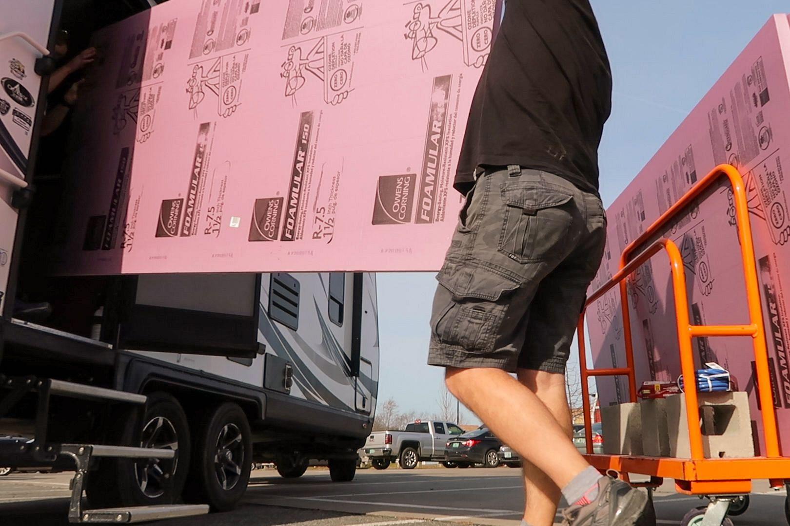 Transporting Foam Boards in RV