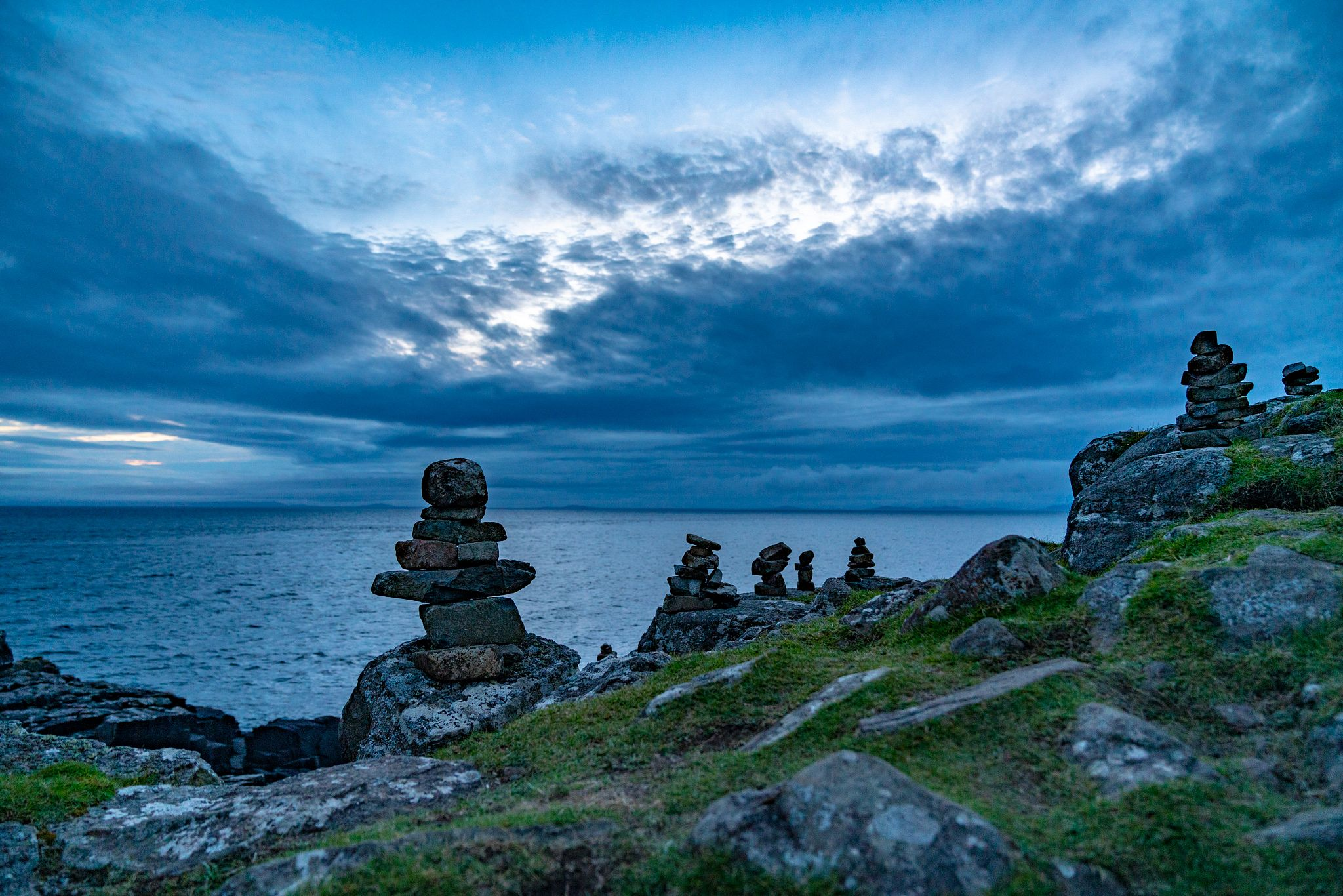 Cairns at Neist Point Lighthouse