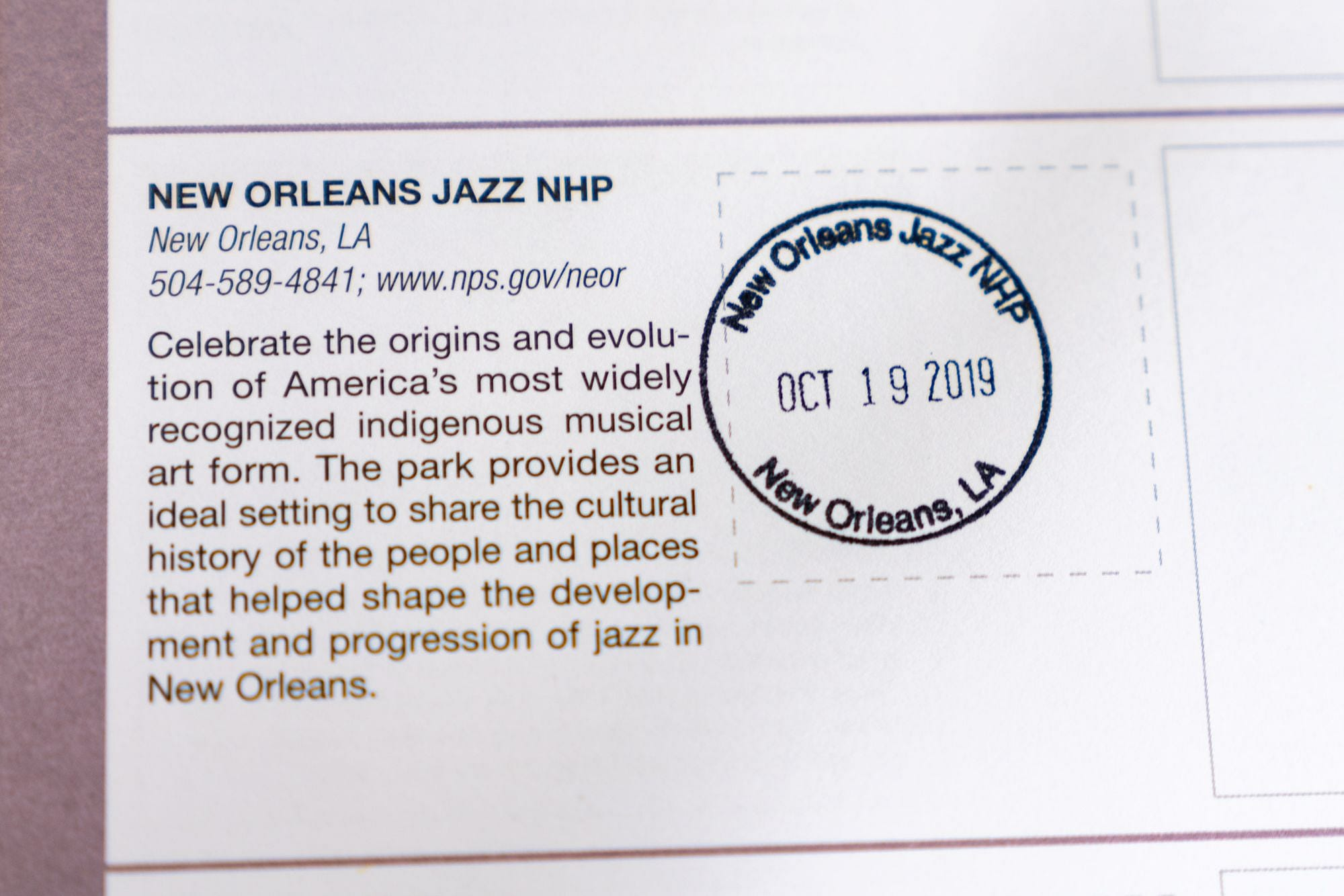New Orleans Jazz NHP Stamp