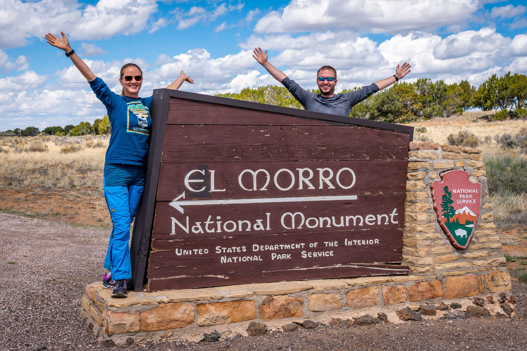 El Morro National Monument Entrance Sign