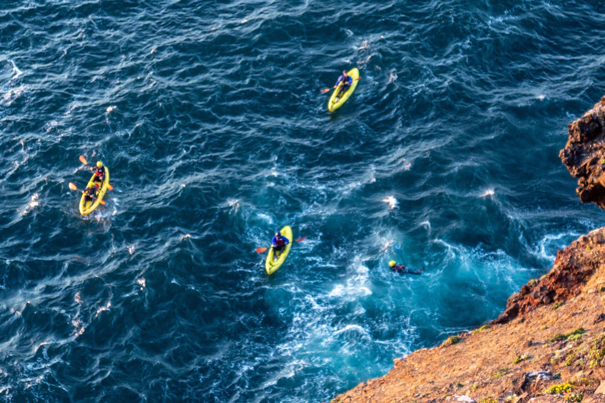 Kayaking at Santa Cruz Island