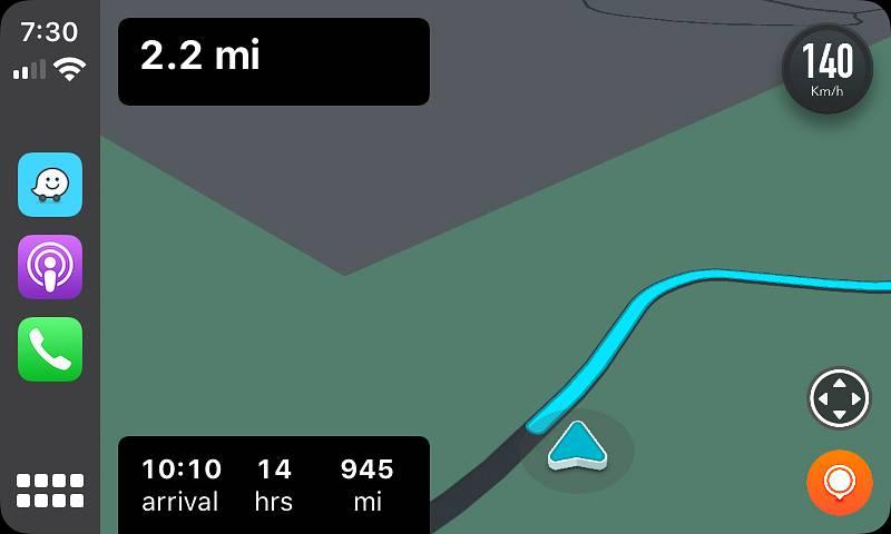 Waze on Apple CarPlay