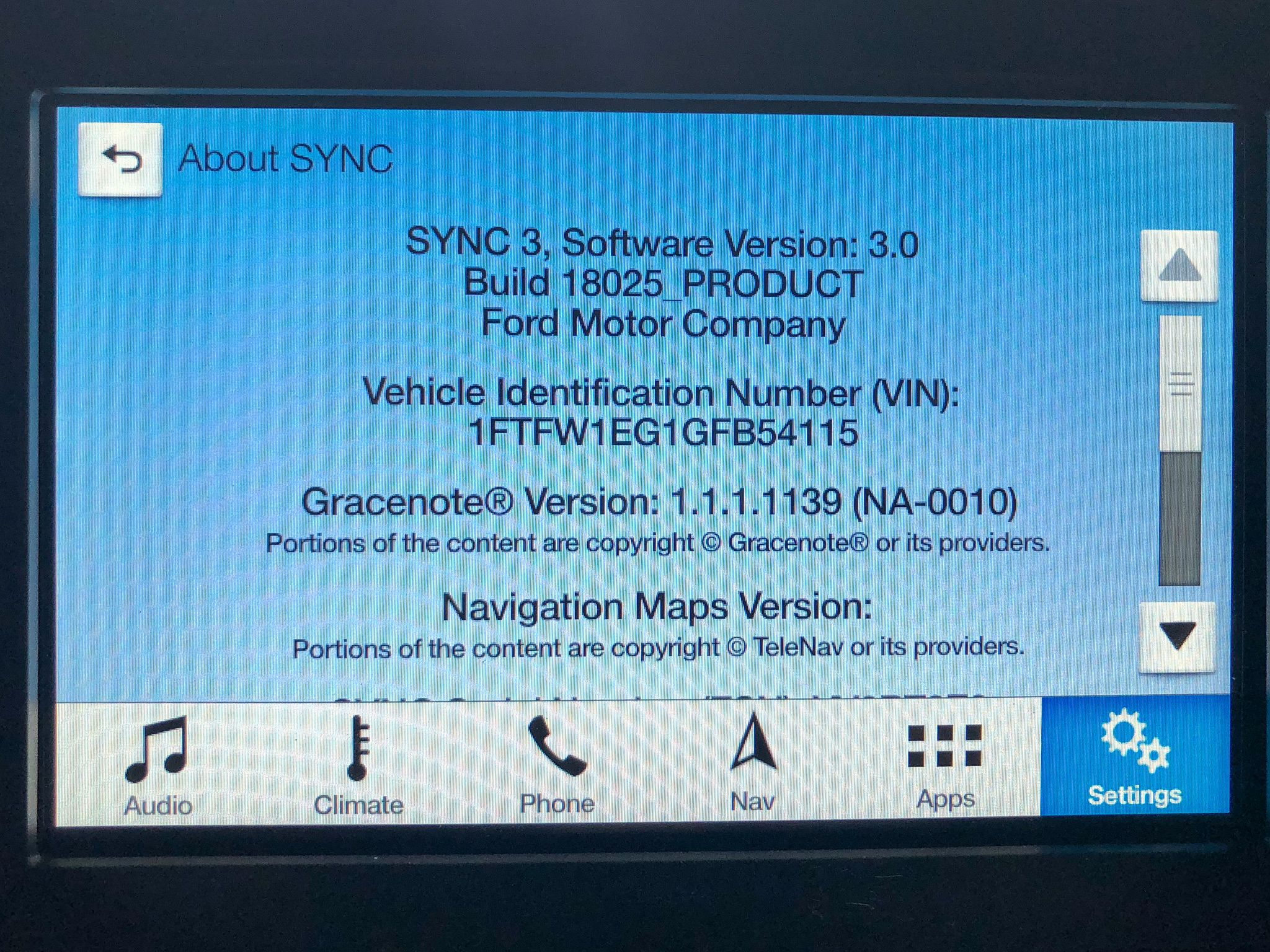 Ford SYNC3 Version 3.0