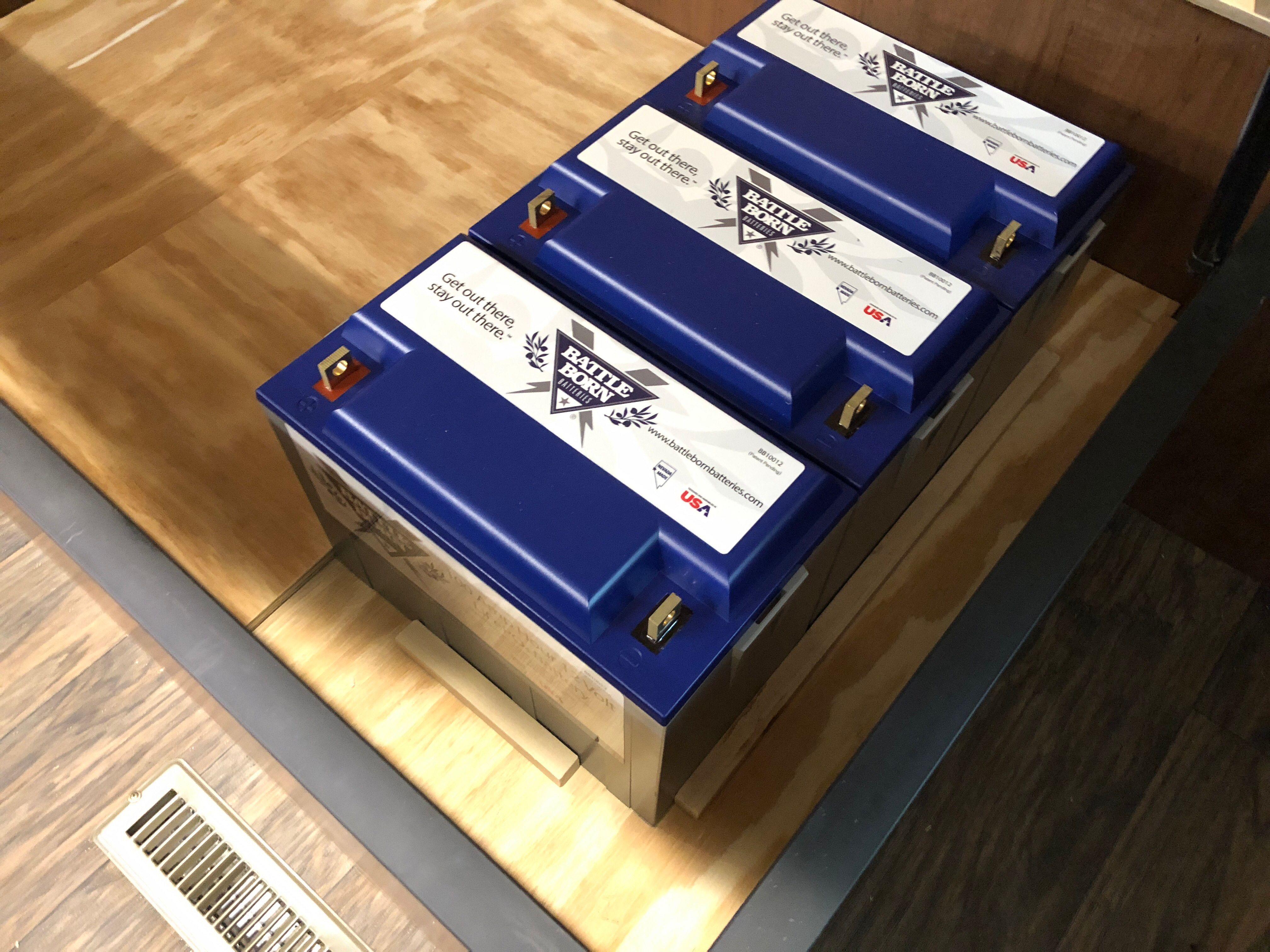 3 Battle Born Lithium Batteries