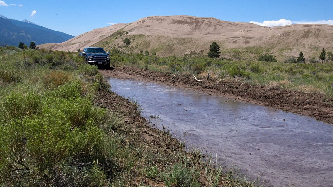 Medano Pass Road Mudpit
