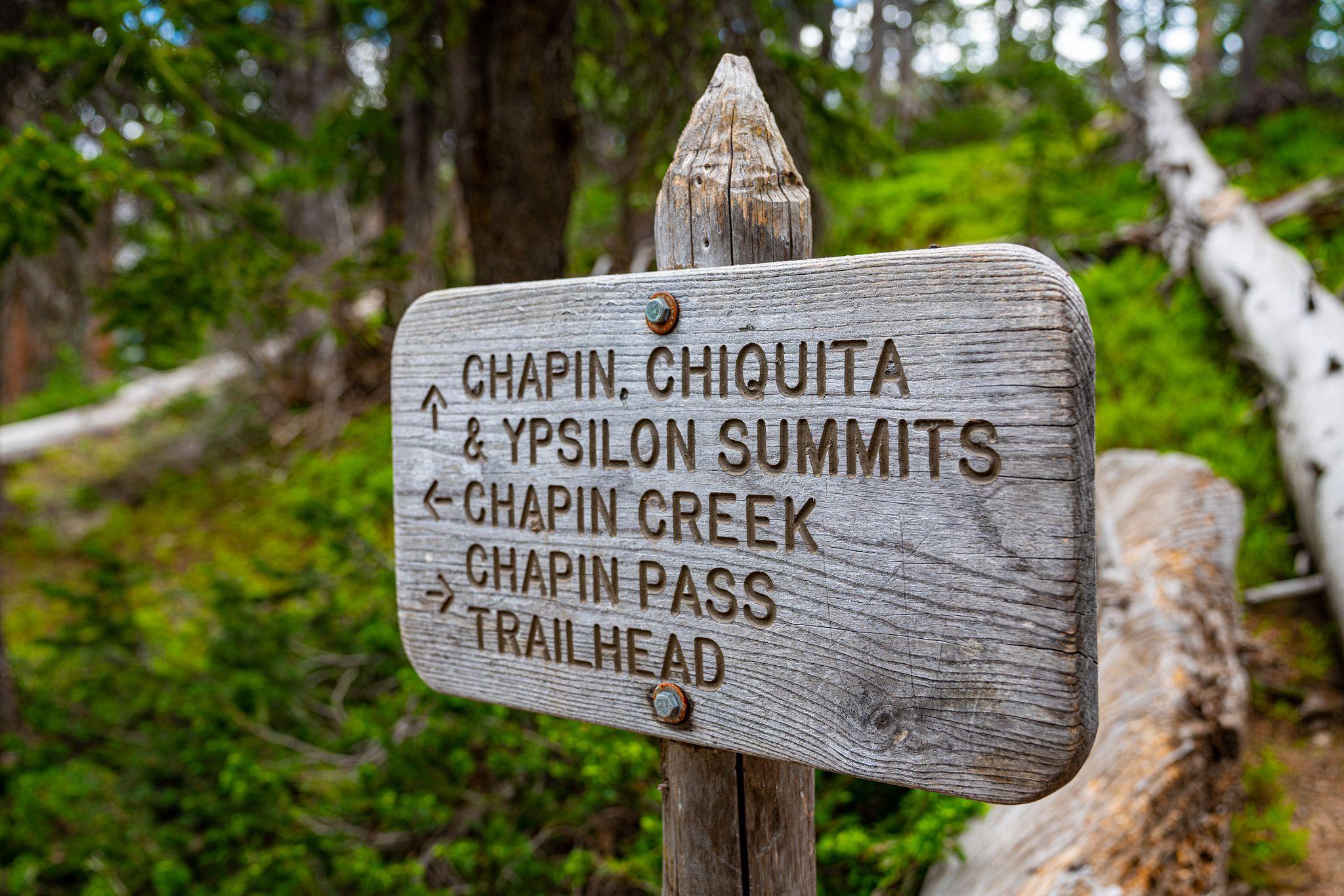 Chapin Creek Trailhead