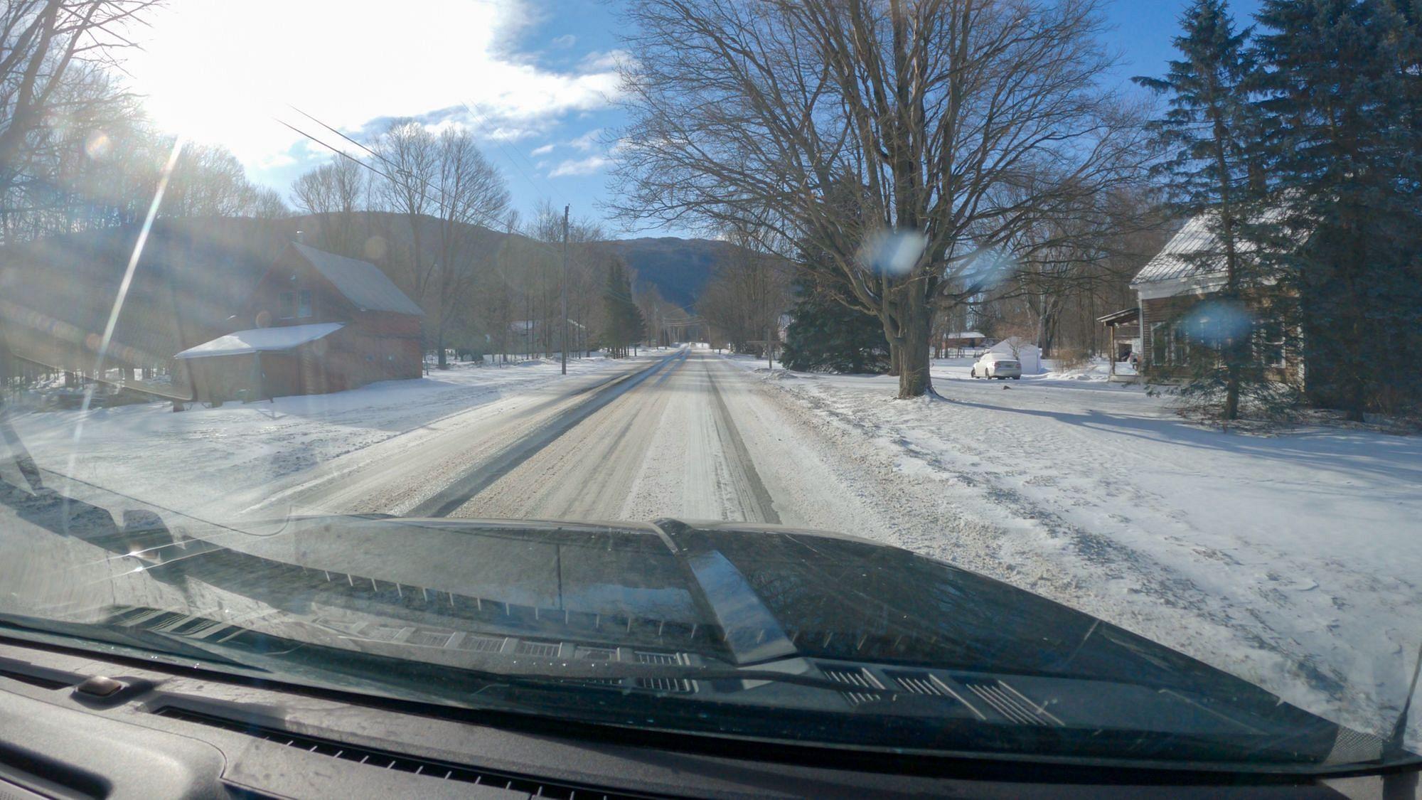 Snowy Vermont Roads