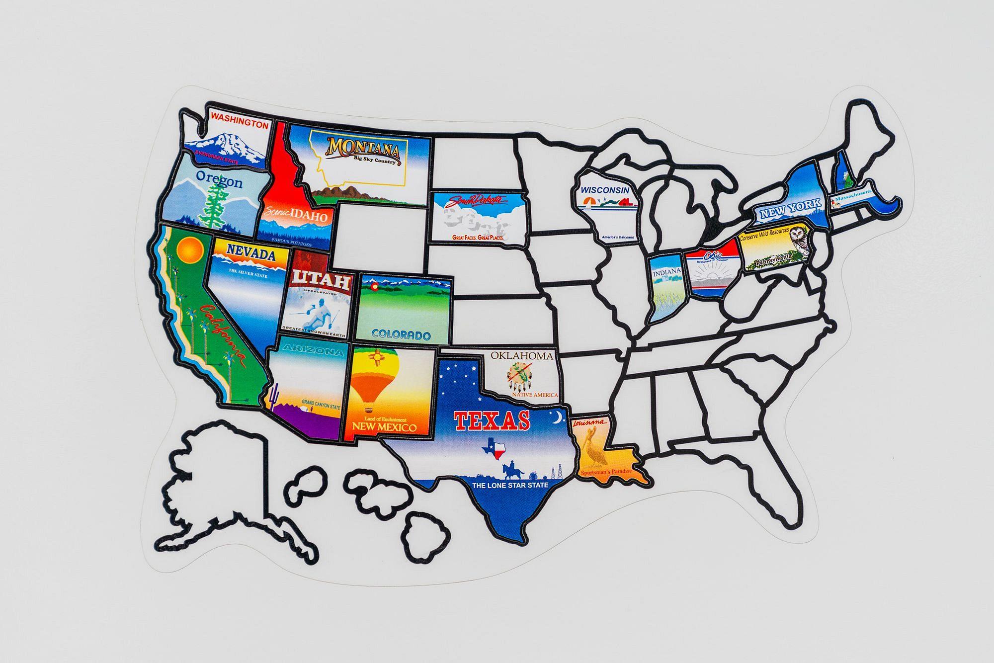 RV Travel Sticker Map