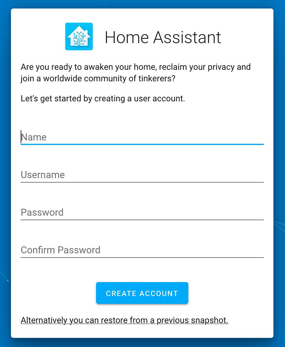 Home Assistant User Accounts