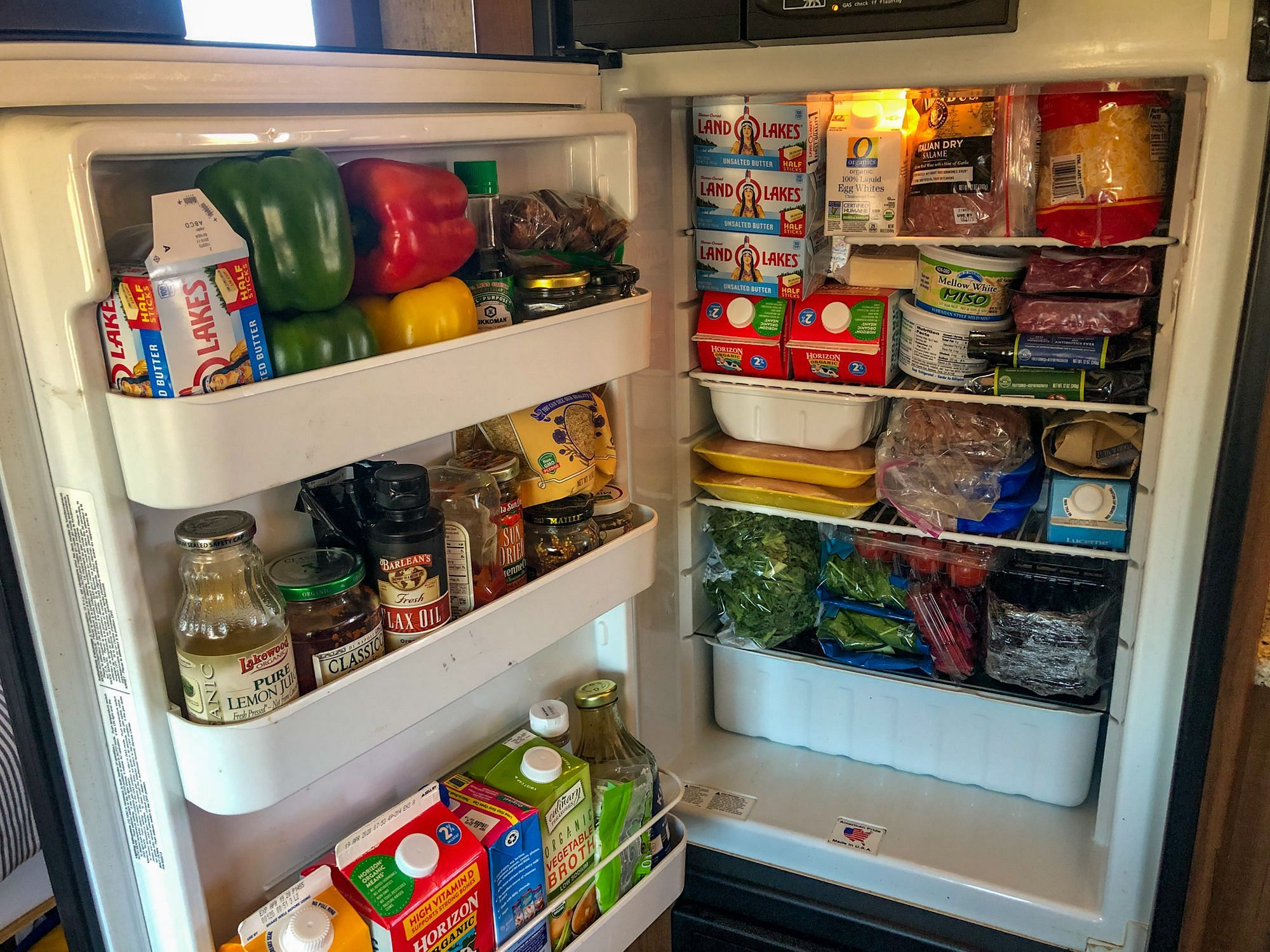 Full RV Fridge