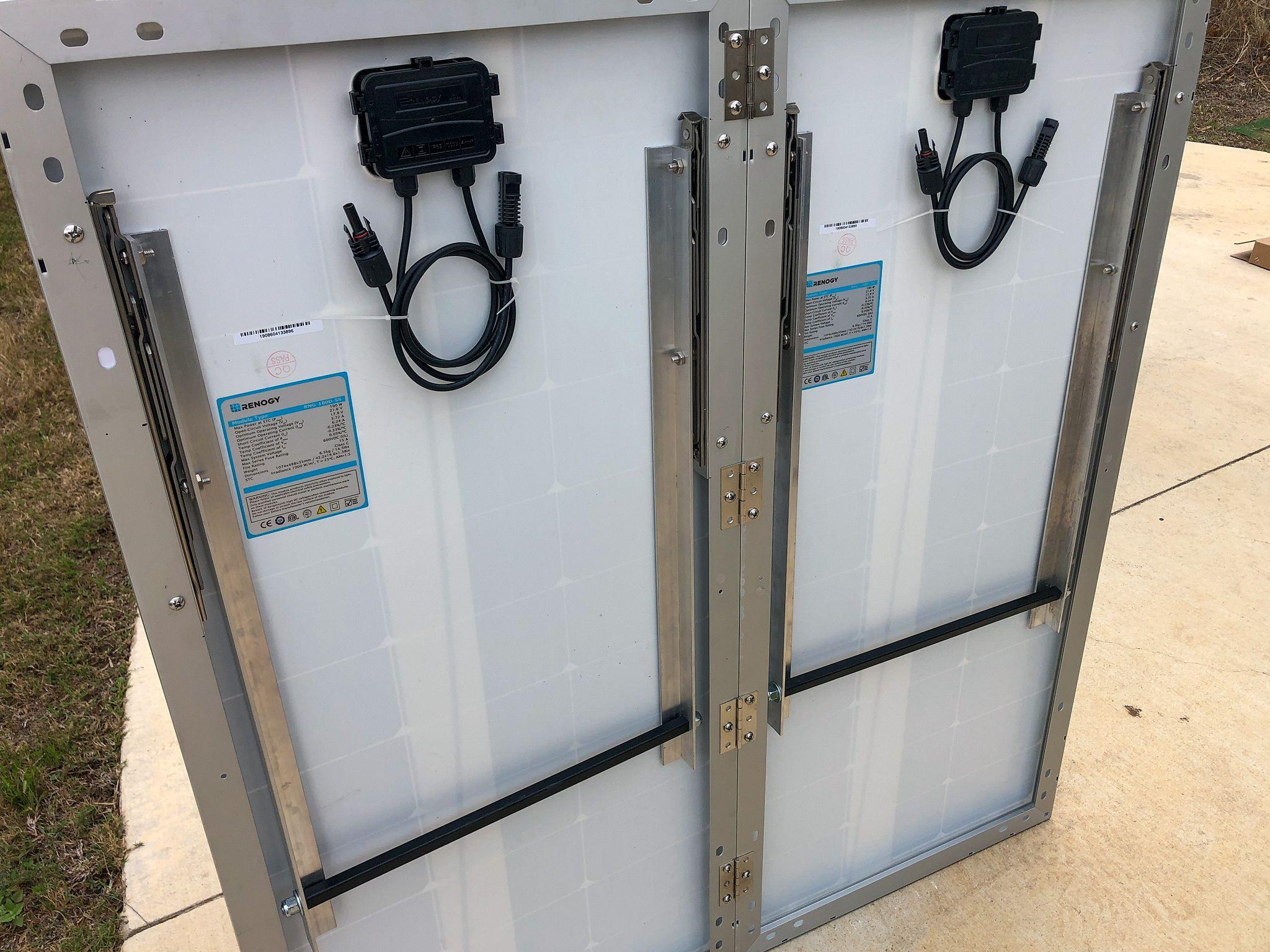 Folding Solar Panel Stand