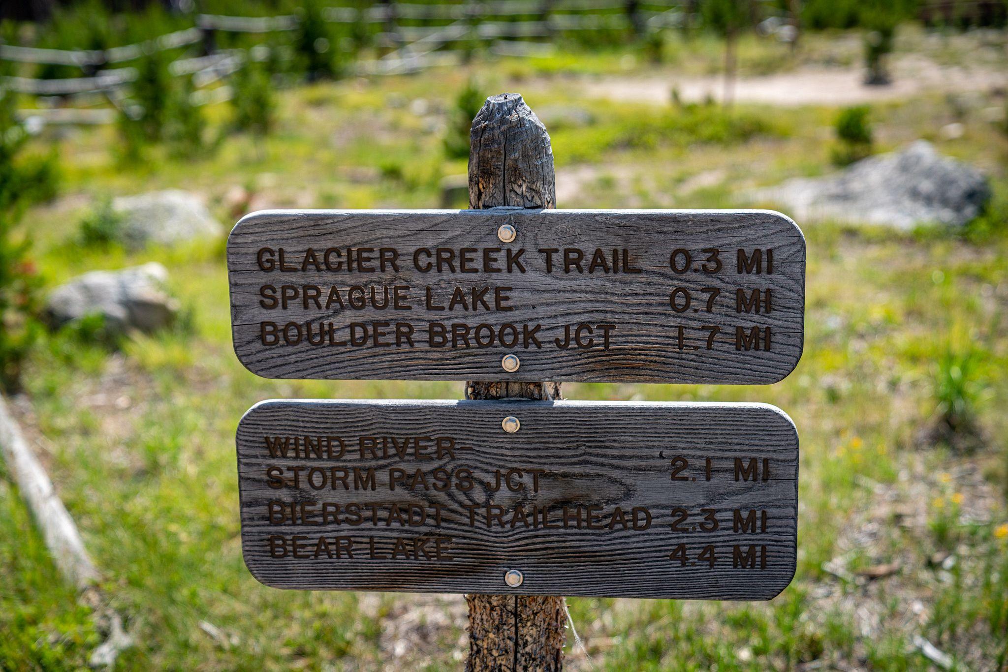 Sprague Lake Sign