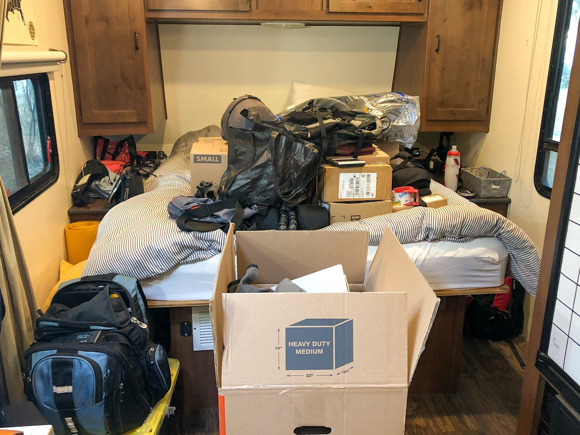 Unpacking Boxes in RV