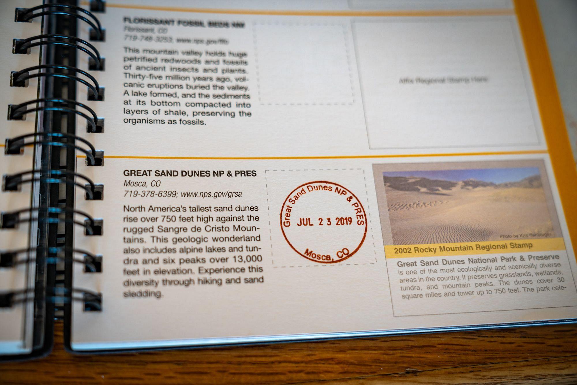 Great Sand Dunes Passport Stamp