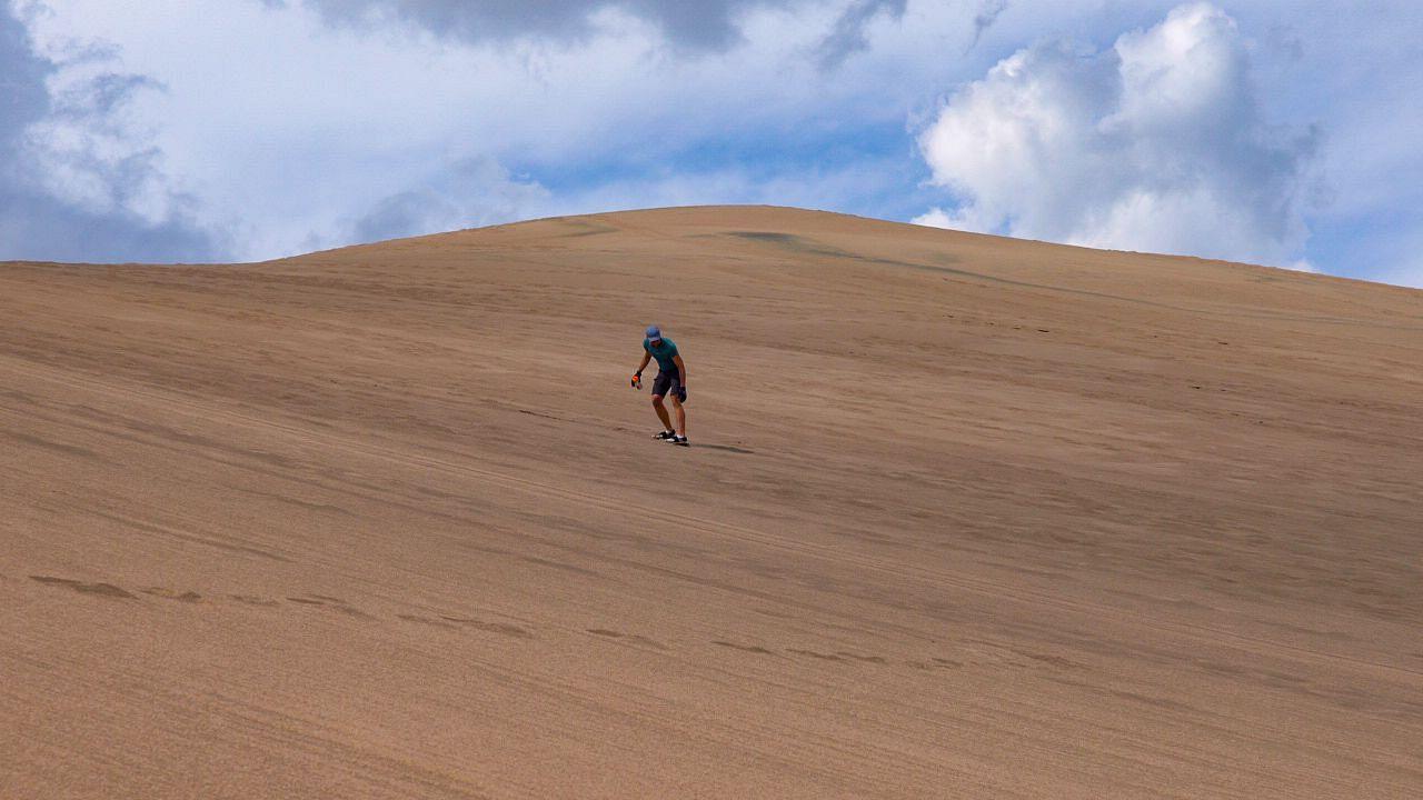 Sandboarding at Great Sand Dunes