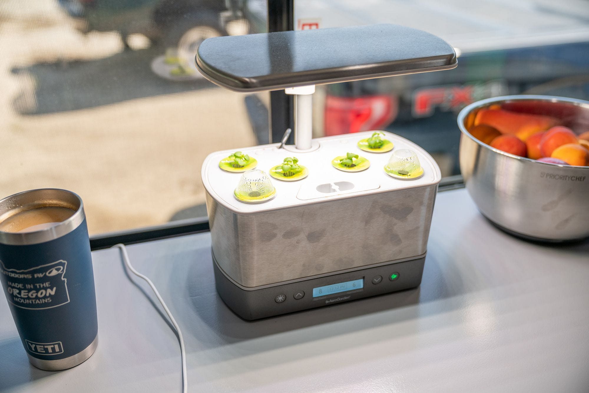 AeroGarden Harvest Elite in RV