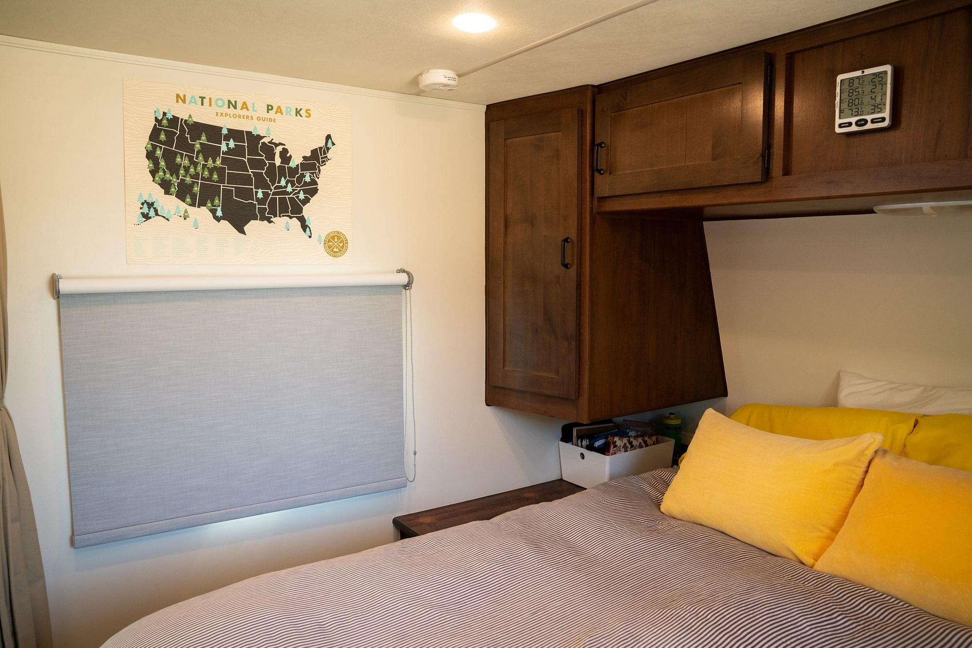 Bali Roller Shades in an RV
