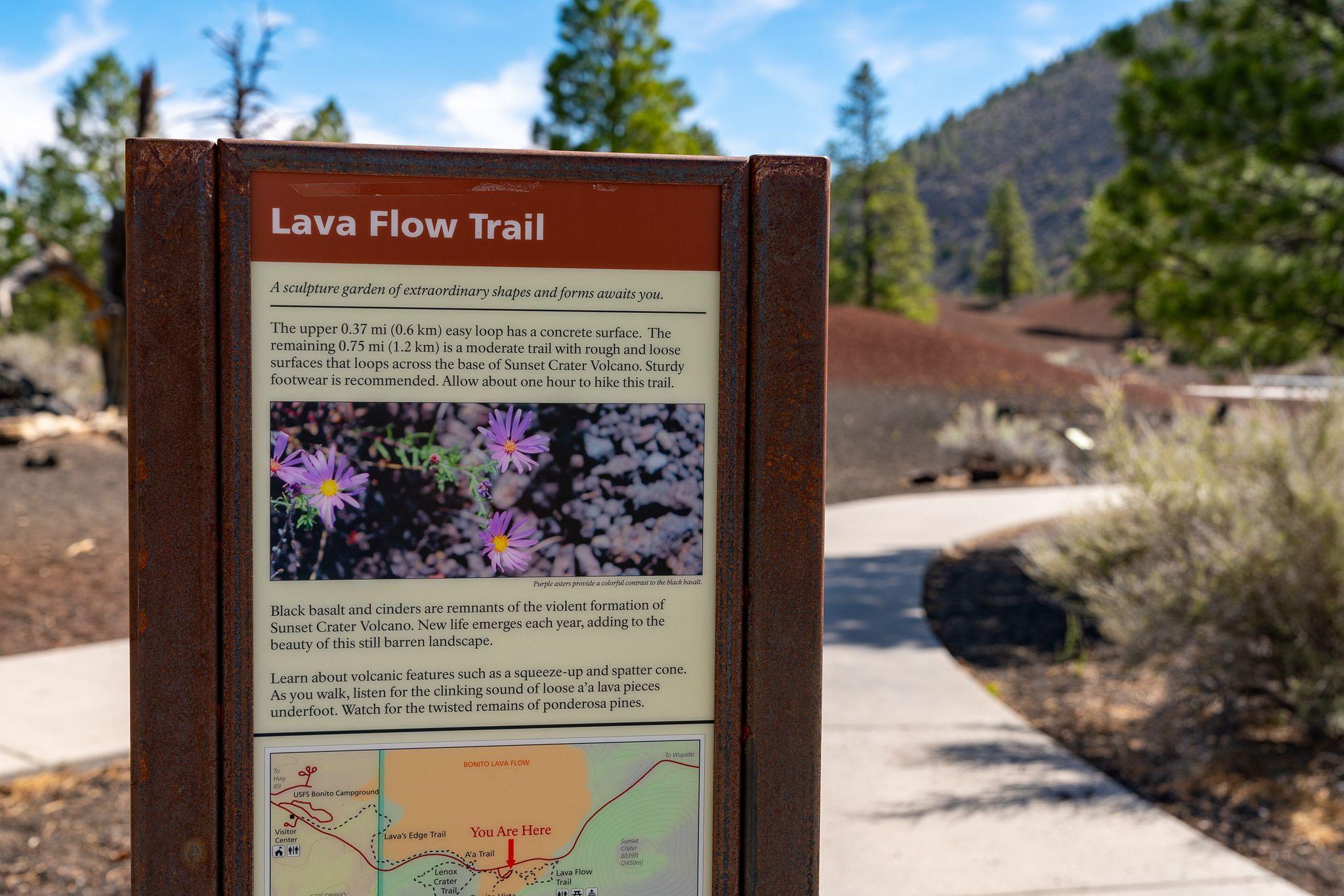 Lava Flow Trail Sign