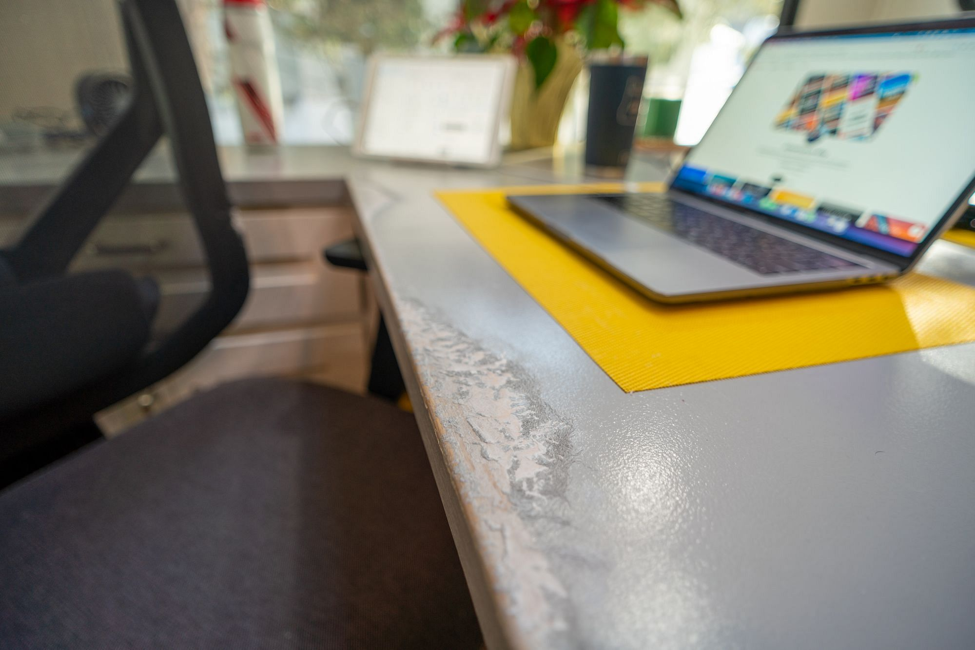 RV Desk Paint Peeling