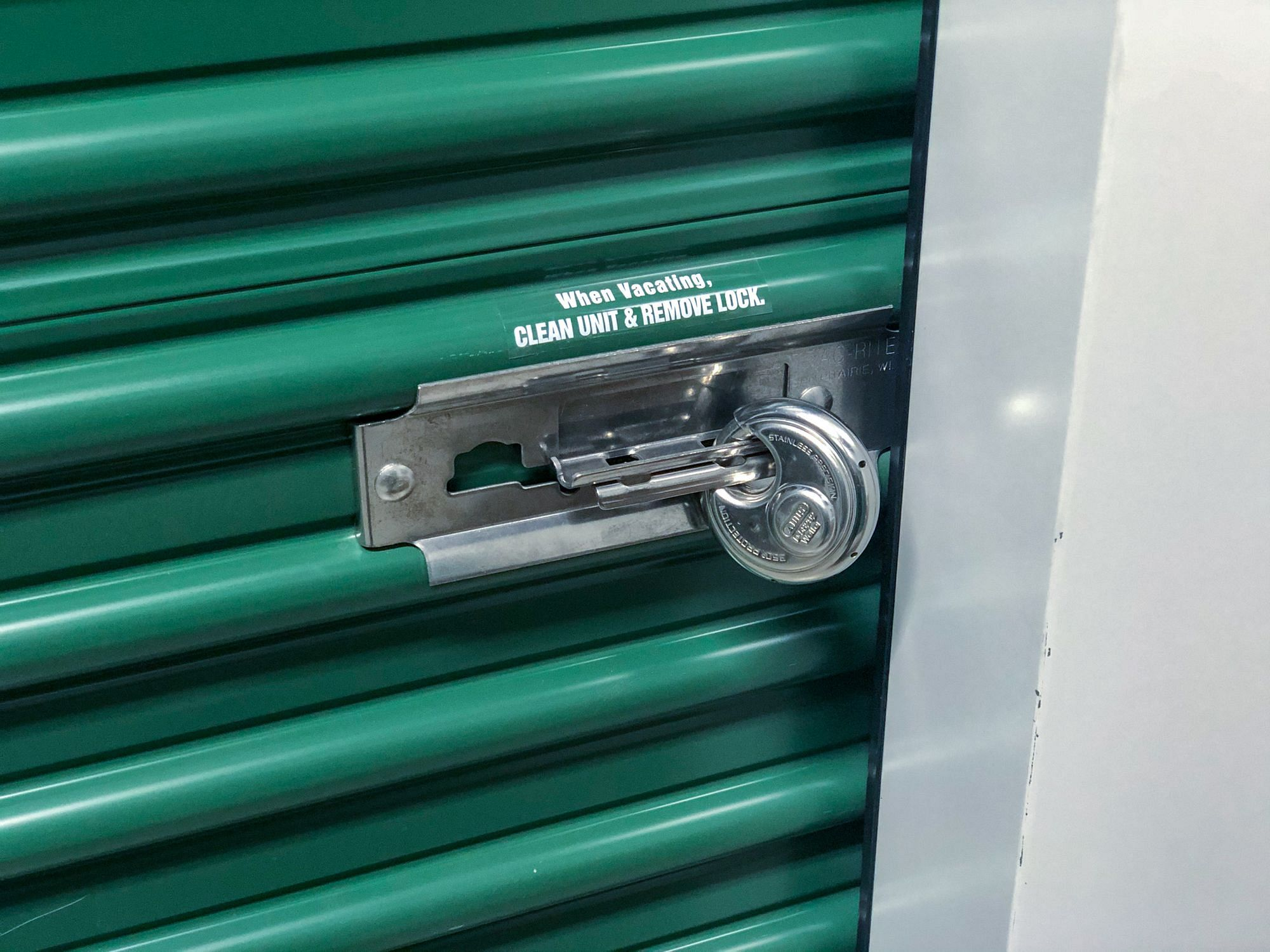 Securing Storage Unit Door