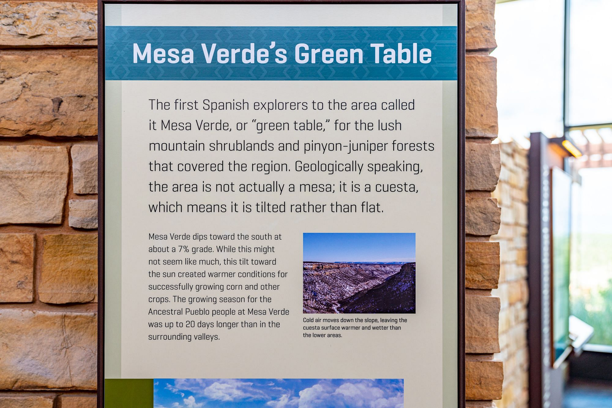 Mesa Verde's Green Table