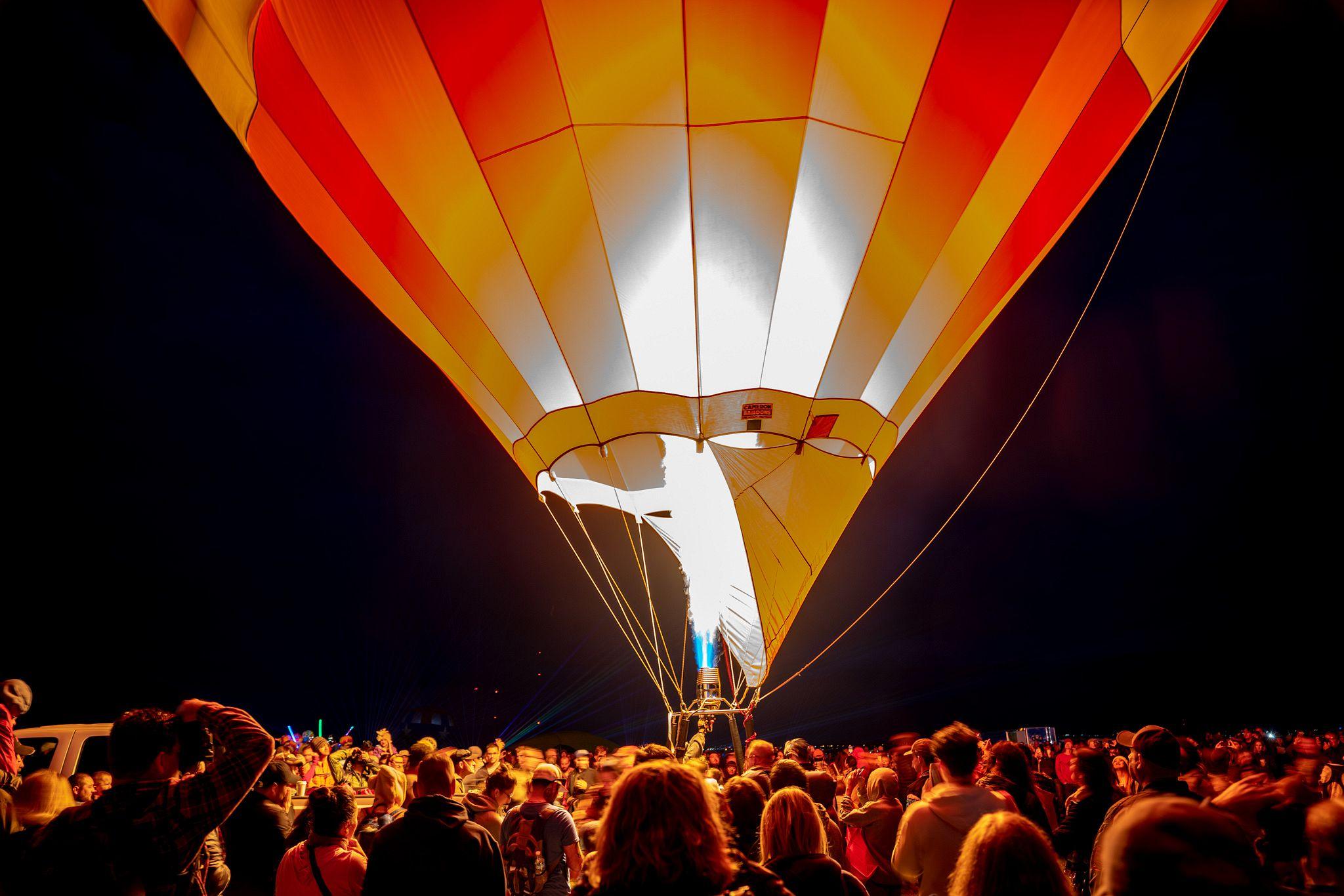 Evening Hot Air Balloon Glow