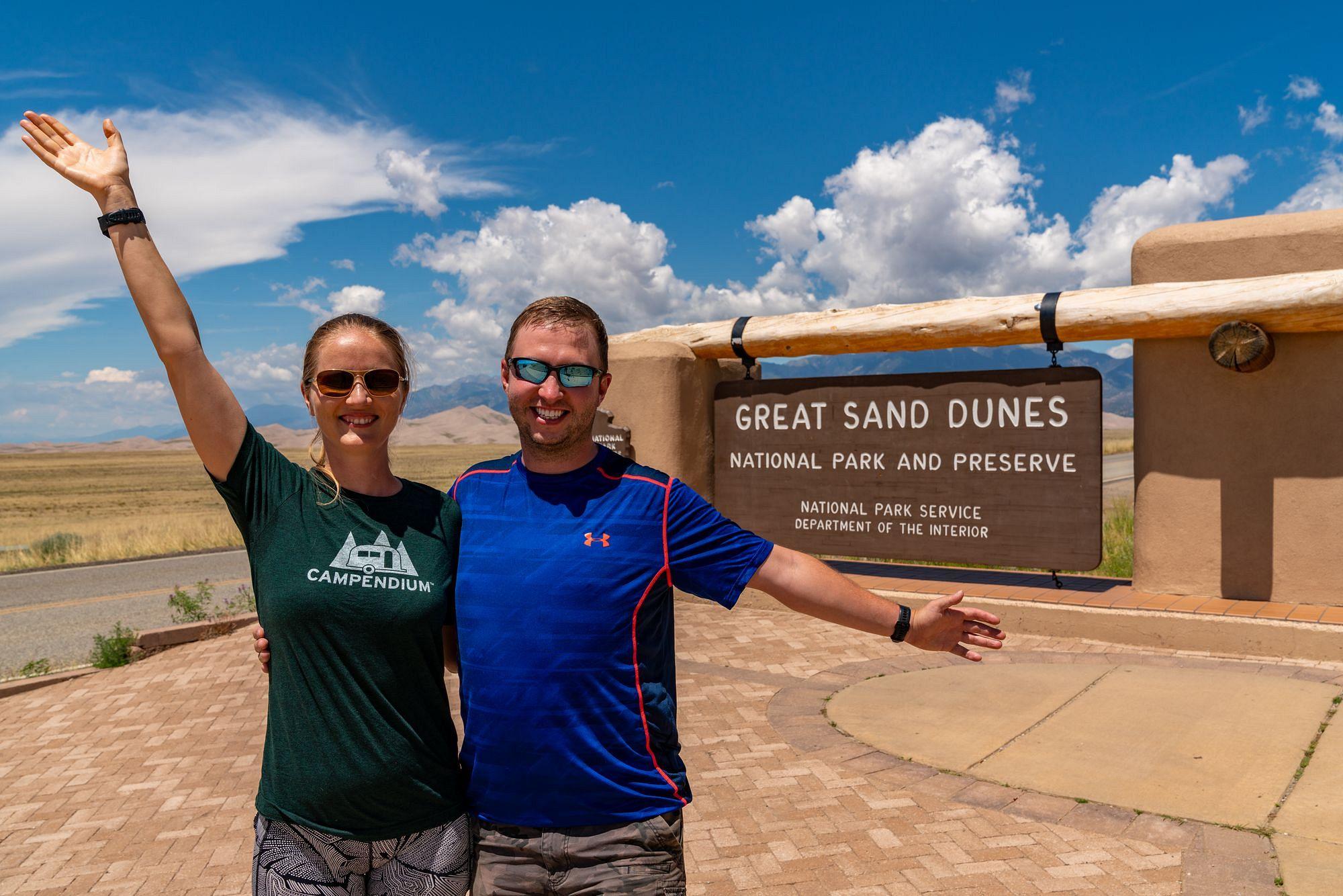 Great Sand Dunes Entrance Sign