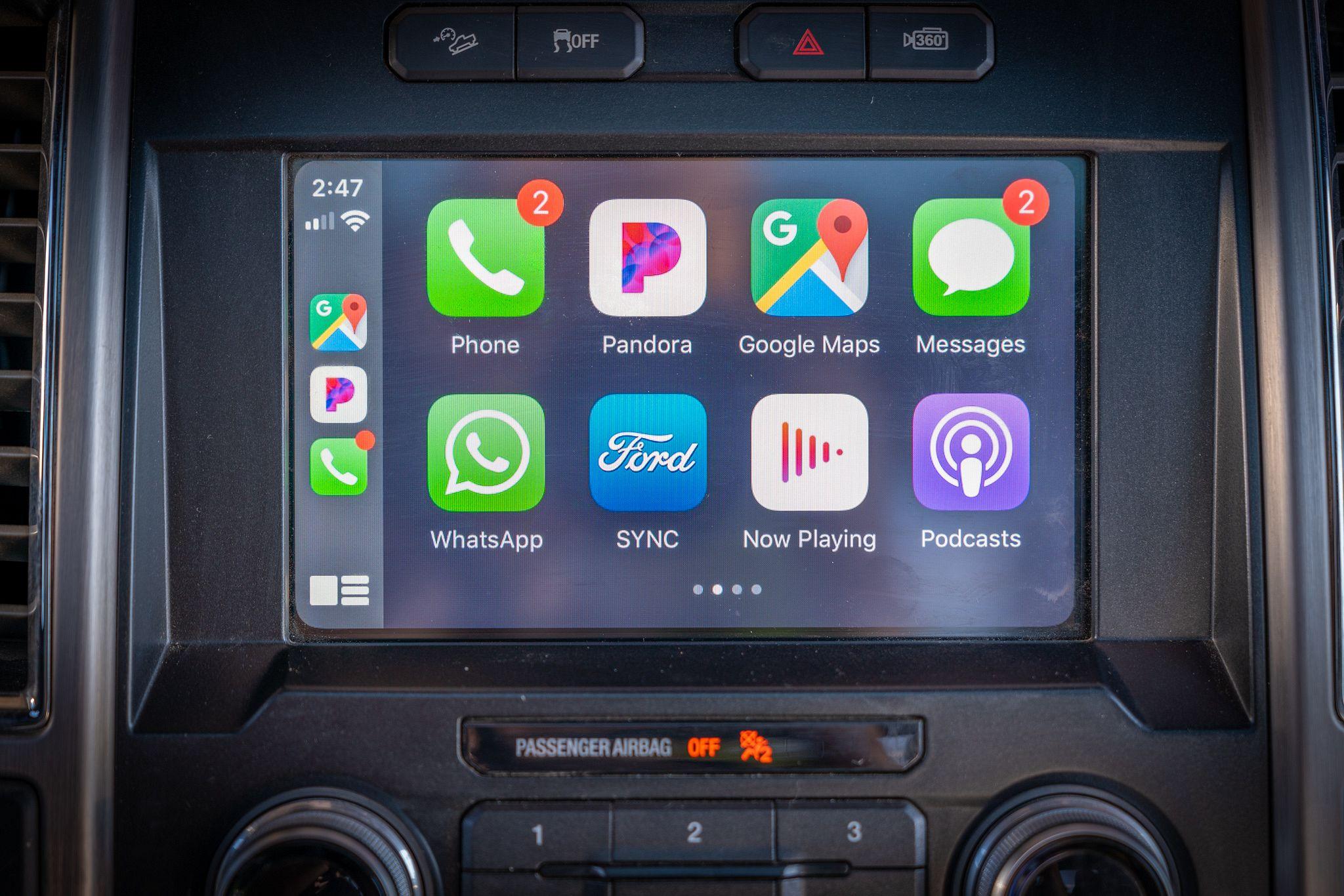 Apple CarPlay in a Ford F-150