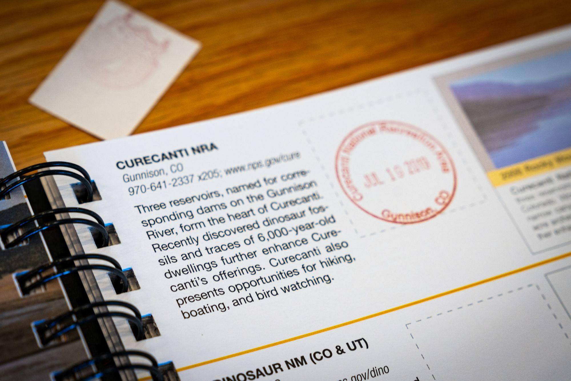 Curecanti NRA Park Passport Stamp