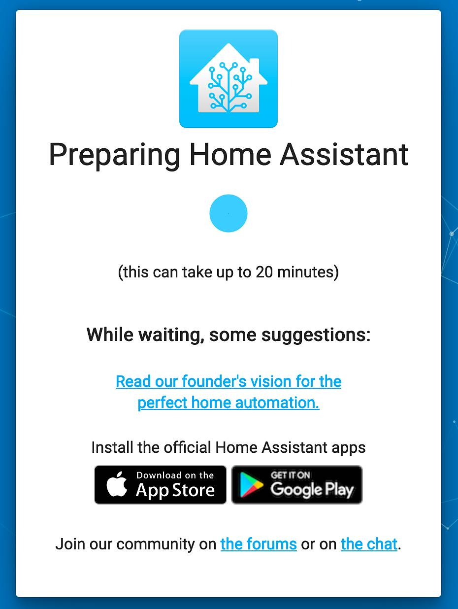 Home Assistant Booting