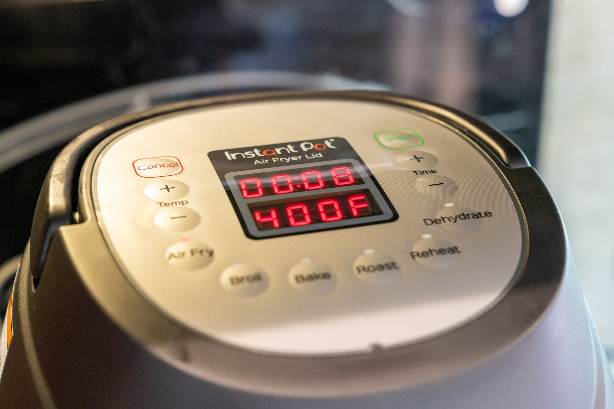 Air Fryer Lid Timer