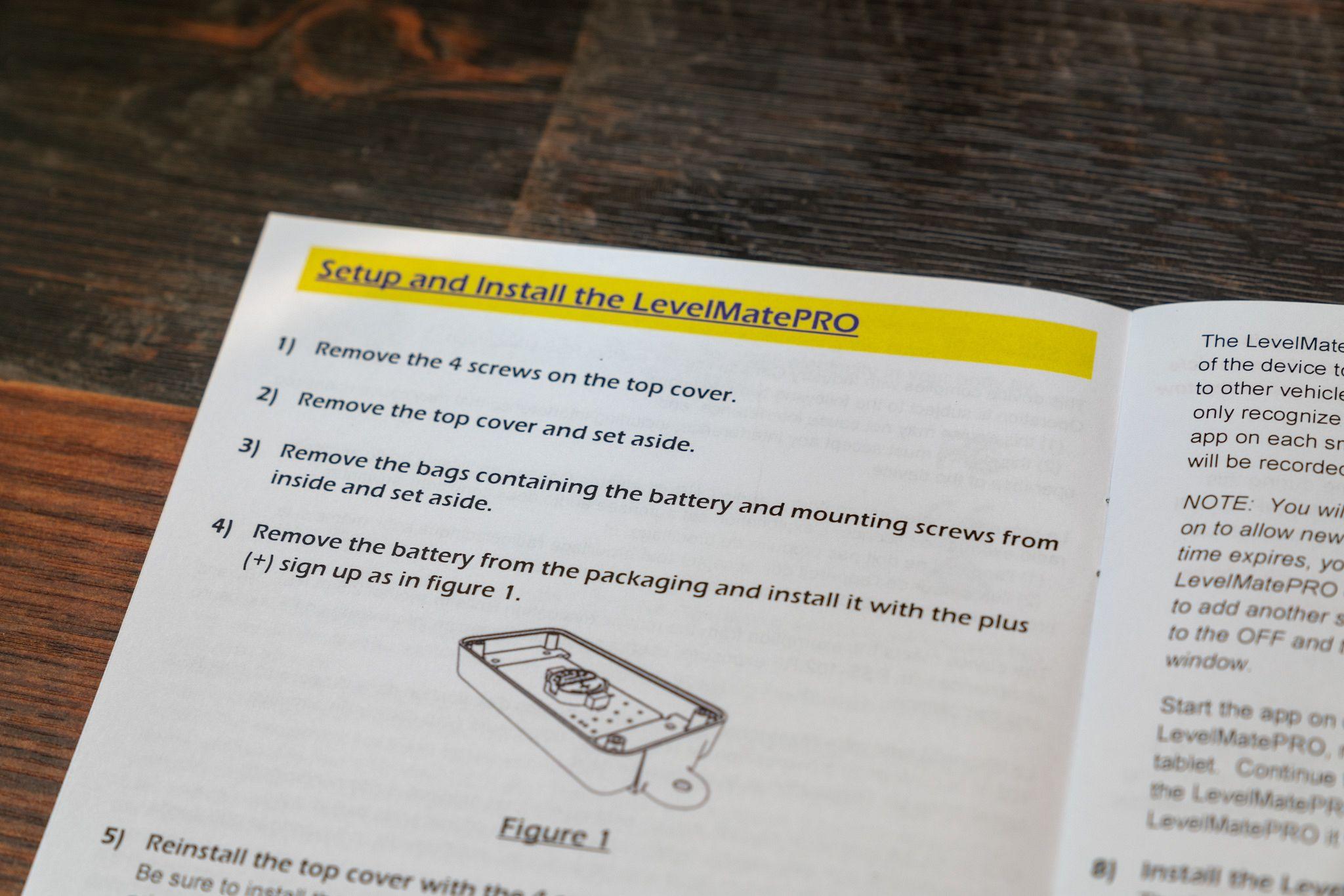 LevelMatePRO Instructions