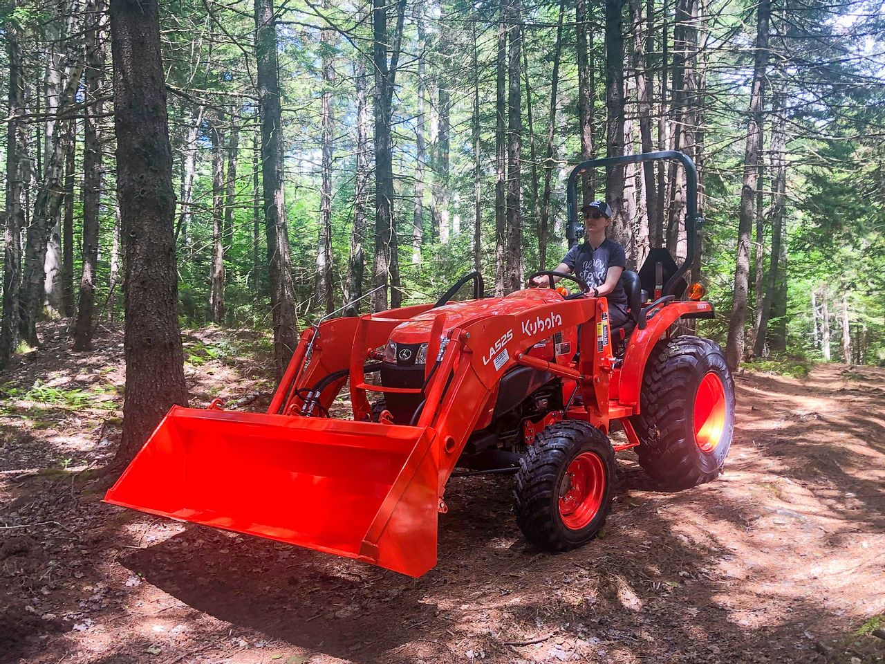 Clearing Trees with our new Tractor