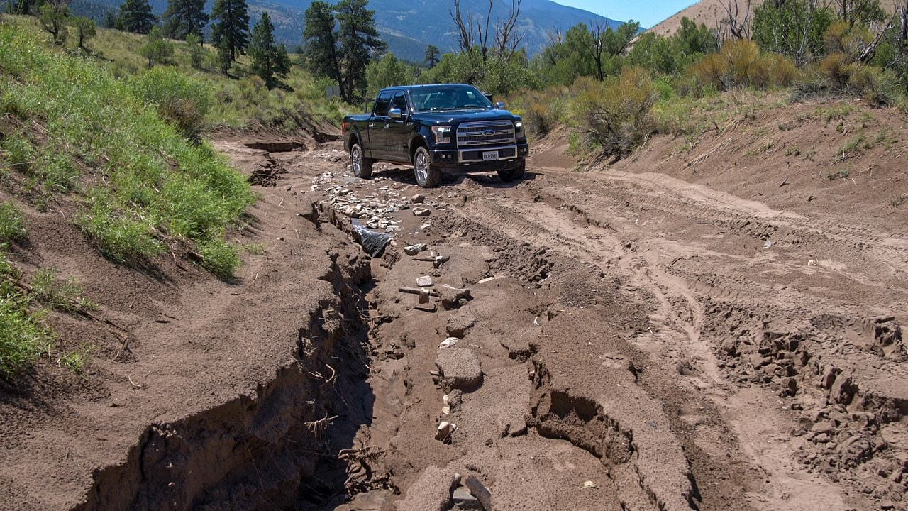 Medano Pass Road Destroyed