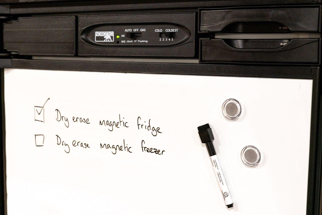 Installing Magnetic Dry-Erase RV Fridge / Freezer Doors