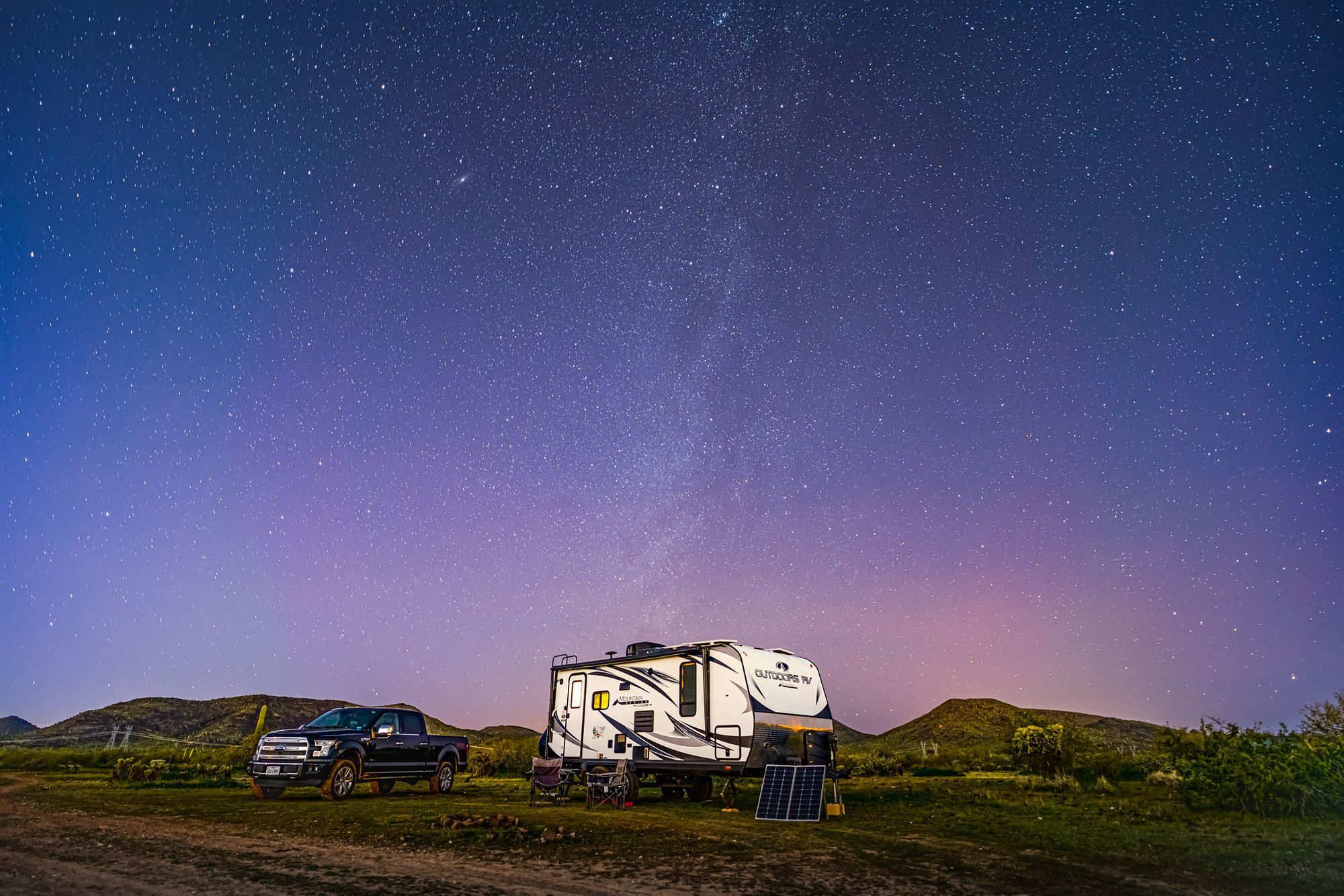 RV under the Milky Way