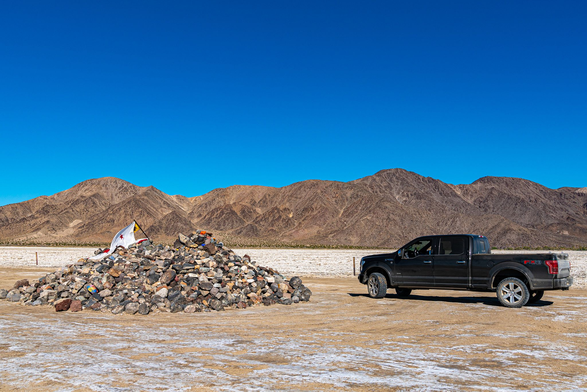 Traveler's Monument on the Mojave Road